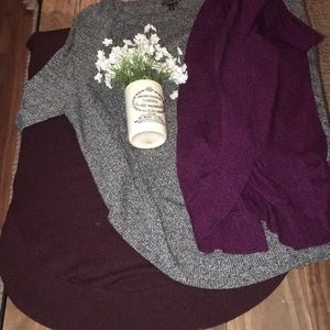 Express crew neck tunic sweaters for leggings / md